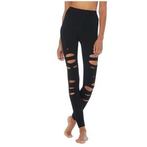 ALO Yoga Pants & Jumpsuits - NEW Alo HIGH-WAIST RIPPED WARRIOR LEGGING Small